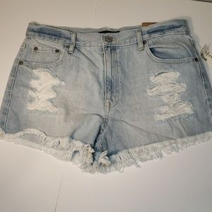 Brand New High Waisted Distressed Lightwash Shorts